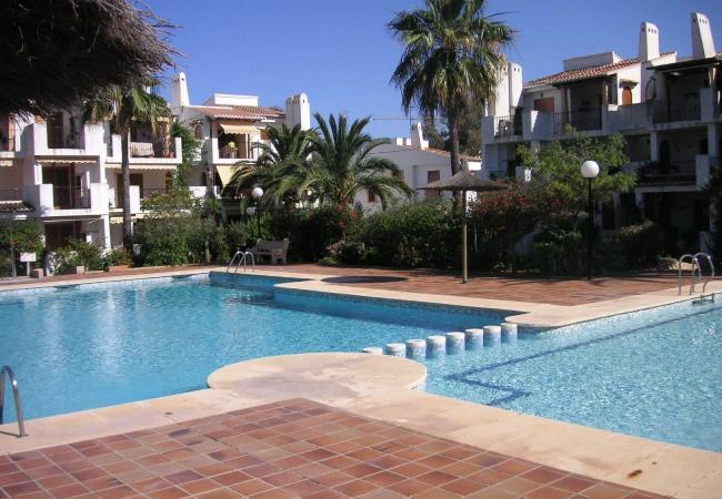 Apartamento en Denia - Apartamento en planta baja frente a la piscina y en primera linea de playa