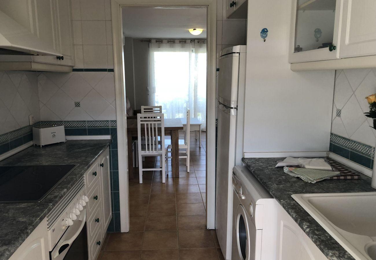 Apartamento en Denia - Apartamento ideal para familiascon parque infantil,piscina y jardin